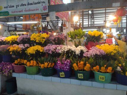 タイの朝市にある花屋
