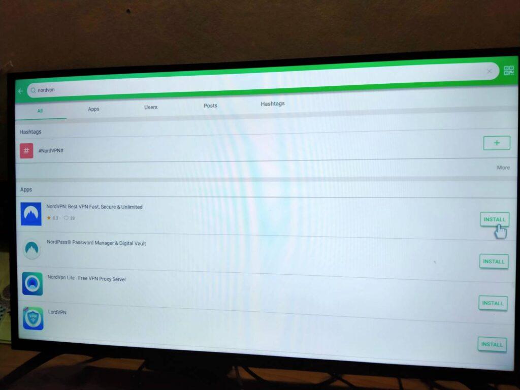NordVPNアプリをTVに設定する