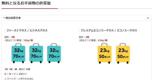JAL手荷物
