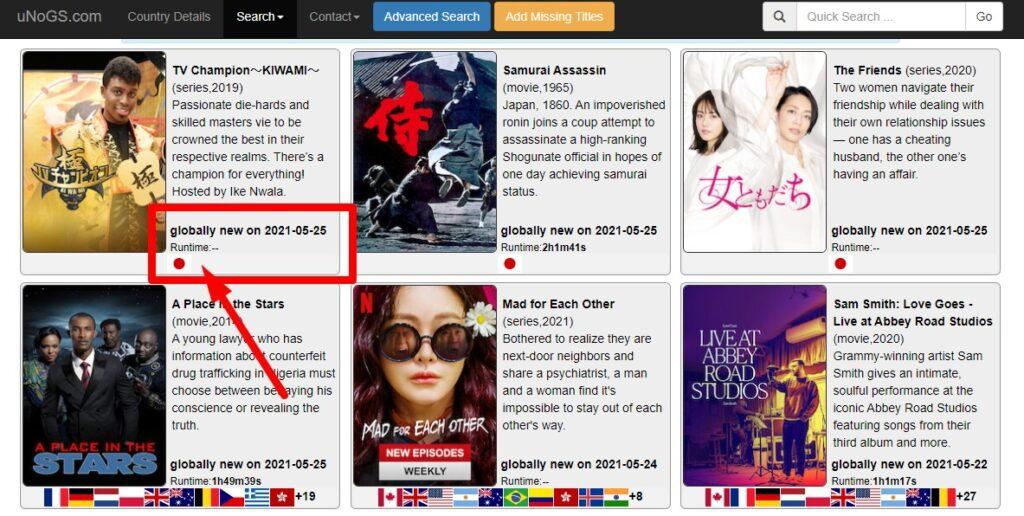 Netflixの国別番組表を調べられる 「uNoGS.com」